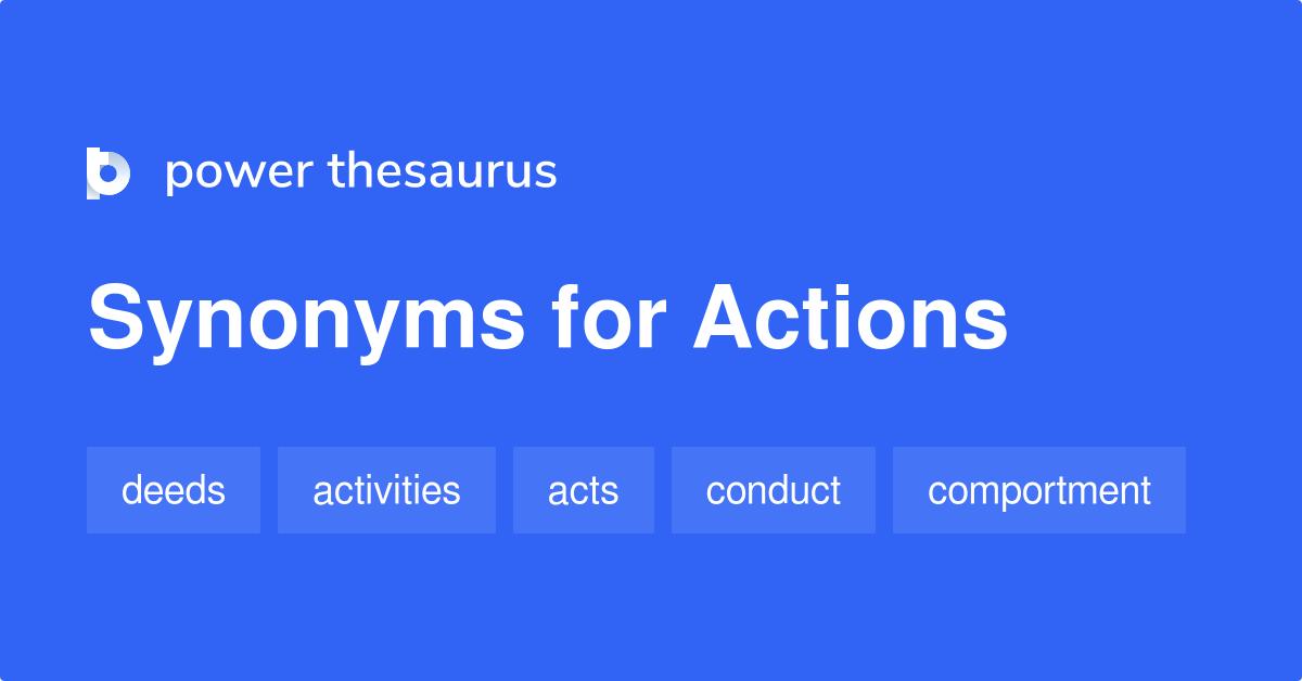 Aktion Synonym